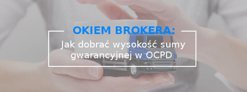 Jak dobrać wysokość sumy gwarancyjnej ubezpieczenia OCPD